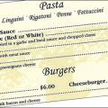 Restaurant menus organize food by categories.