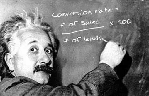 Image of Einstein - How to calculate sales conversion rate and lead value