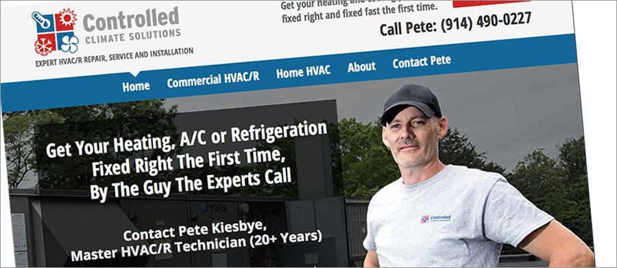 HVAC website example