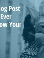 Blog post idea featured image, rabbit man on phone.