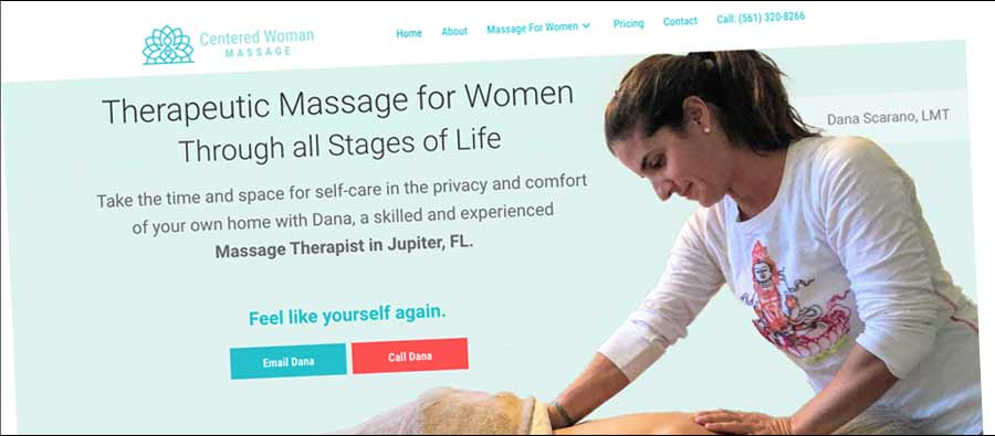 Massage Services Website Screenshot
